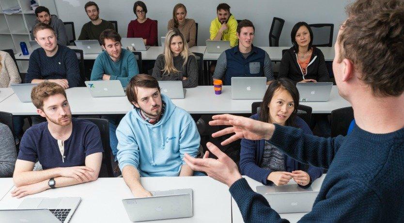 Rick teaching a class