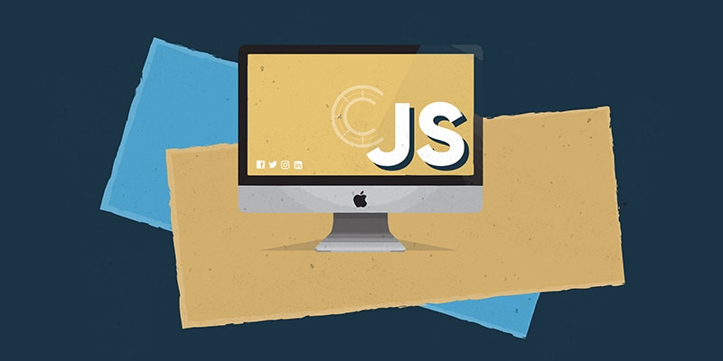 JavaScript illustration showing a computer screen