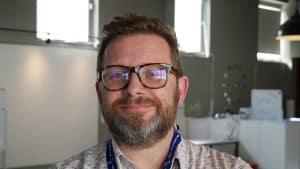 Brian Baglow in CodeClan's Edinburgh campus