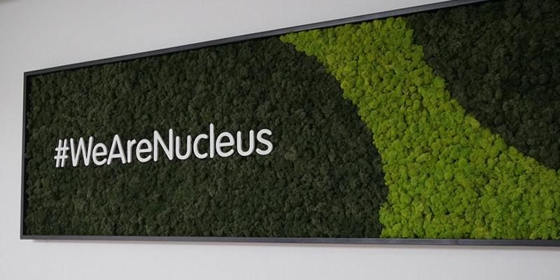 A sign saying #WeAreNucleus