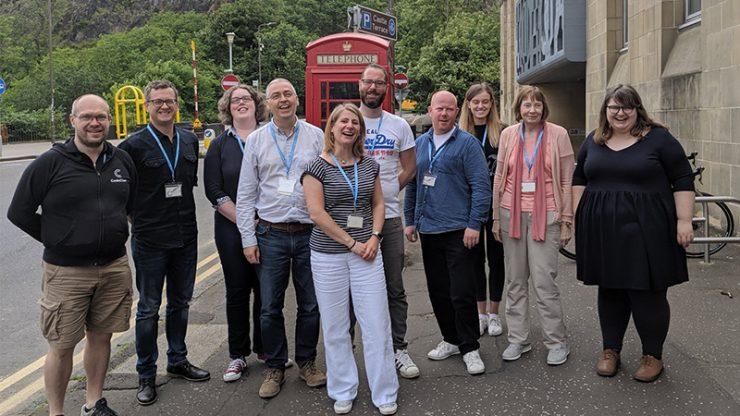 CodeClan Data Analysis Coursecohort outside CodeClan in Edinburgh