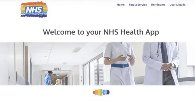 Screen shot on CodeClan students' NHS Health App