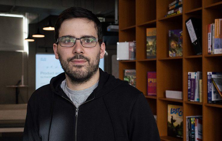CodeClan's instructor Darren Breen